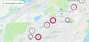 Карта аптек Максавит на сайте